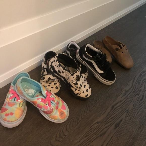 Toddler girls Vans and Birkenstock
